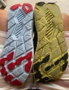 Unworn pair 3 and very worn pair 2